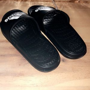 adidas Shoes - Men's black & White adidas slides